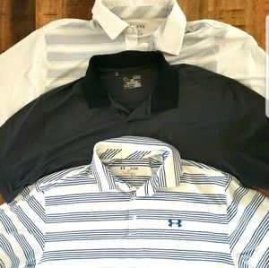 Lot of 3 Under Armour Polo Shirts